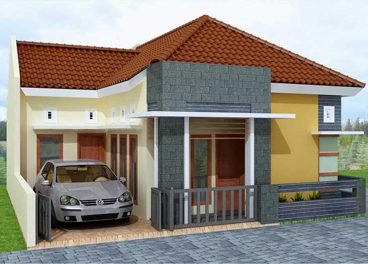 Model teras rumah type 45 simple