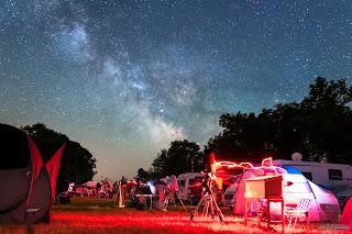 Stargazing under the Milky Way
