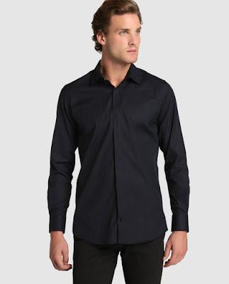 Camisa Negra Slim Fit  Ayacucho