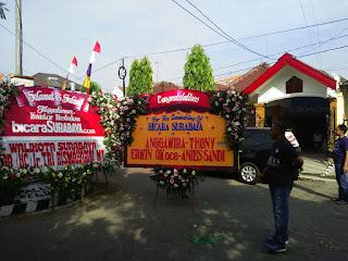papan bunga kantor peresmian bicara surabaya