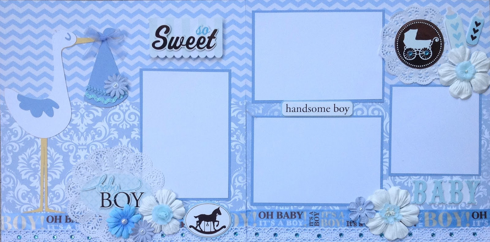 AMAZING GRACE Paper Crafts: Baby Boy and Brothers