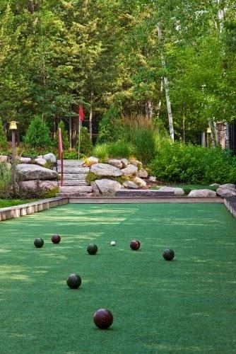 Bocce ball court in the backyard   Backyards Click