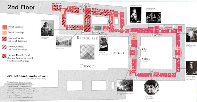 Mapa do segundo andar do Museu do Louvre