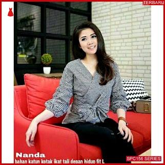 SPC156N55 Nanda Blouse Katun Bhn Atasan Wanita | BMGShop