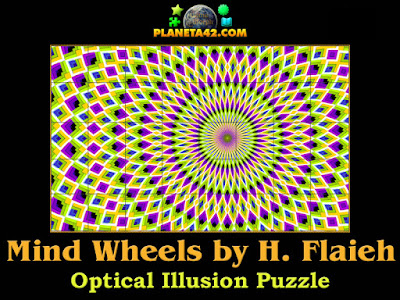 Mind wheels optical illusion puzzle