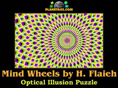 Mind wheels optical illusion puzzle