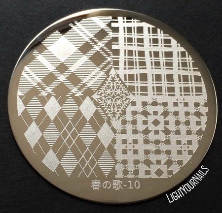 Harunouta 10 stamping plate dischetto stampa unghie Bornprettystore