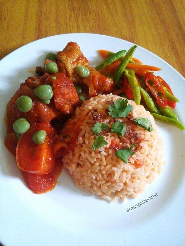 Resepi Nasi Tomato Ayam Masak Merah Sayur Campur Resepi Sheila Rusly
