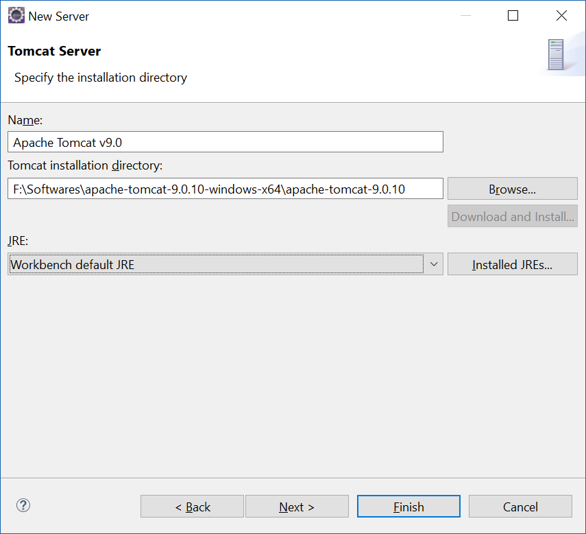 tomcat server installation steps in windows