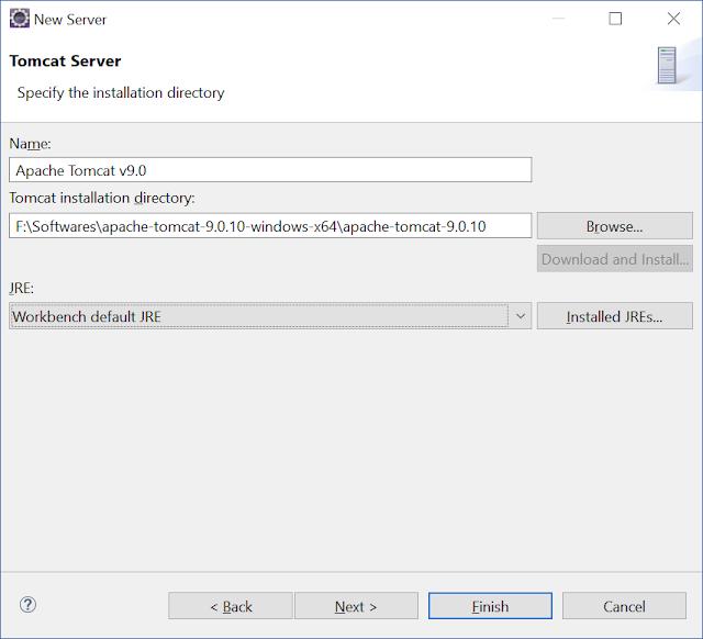adding tomcat server