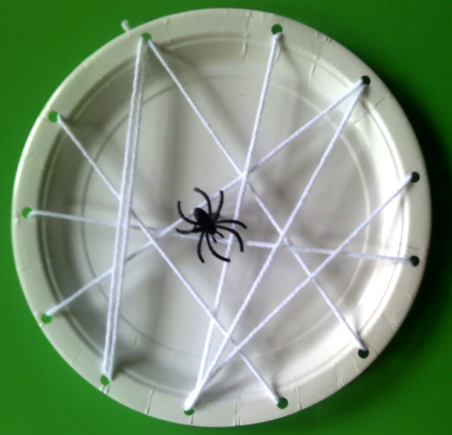 Spider Web Craft Out Of Paper Plates
