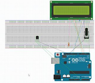 Circuito%2Bsu%2BBreadboard - Leggere la temperatura con Arduino Uno.
