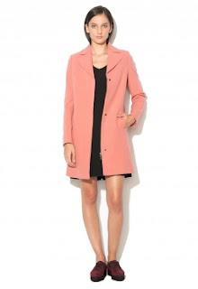 Palton roz dama de iarna de calitate superioara