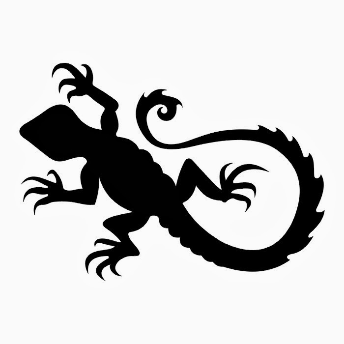 Lizard tattoo stencil