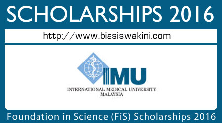 Foundation in Science (FiS) Scholarships 2016