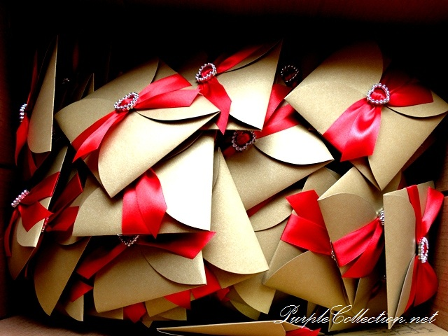 Petal Fold Wedding Cards, petal, fold, wedding cards, petal fold, wedding cards, wedding, marriage, red ribbon, diamond heart, envelope