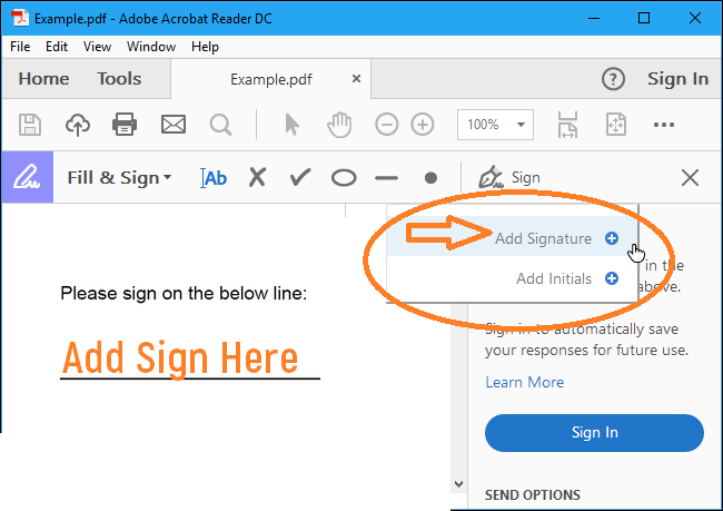 Sign a PDF Document