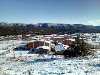 nieve en la serrania de cuenca. autor, miguel alejandro castillo moya