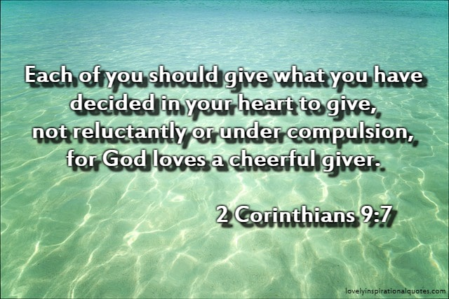 bible verses on giving and receiving