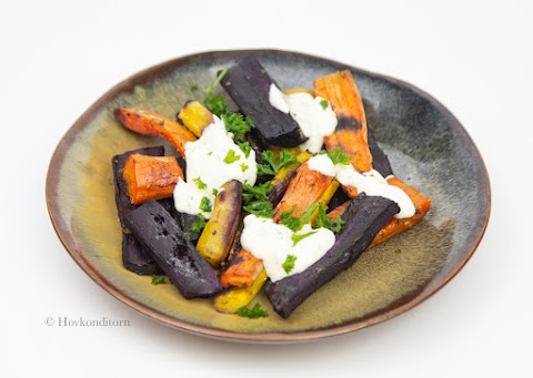 Oven-Roasted Carrots with Lemon Sauce