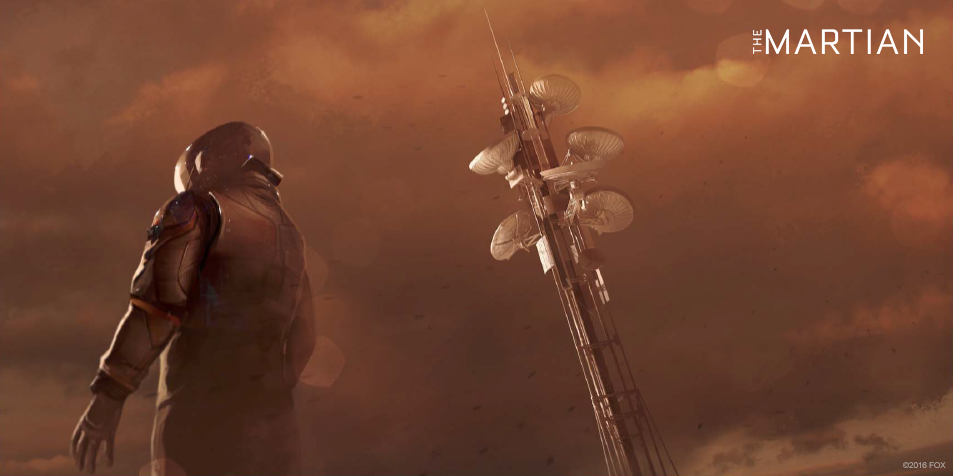 Concept art for The Martian - communications tower
