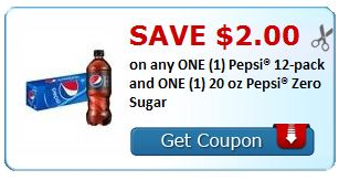 $2.00 on any ONE (1) Pepsi® 12-pack and ONE (1) 20 oz Pepsi® Zero Sugar COUPON *HERE*