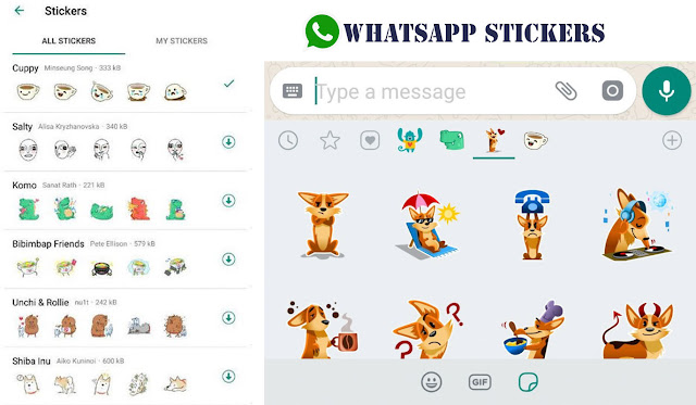 Whatsapp stickers available,whatsapp new features,techylogy