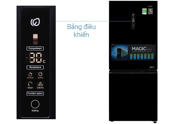 Review tủ lạnh Aqua AQR-IW338EB