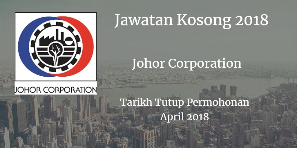 Jawatan Kosong Johor Corporation April 2018