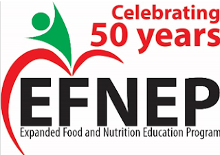 Celebrating 50 years EFNEP Expanded Food and Nutrition Education Program and logo