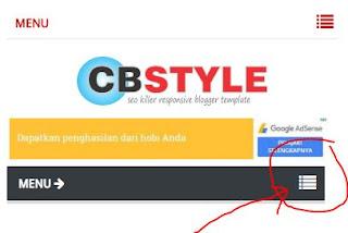 Cara Mengatasi Icon Menu Navigasi CB Style di Mobile yang Hilang
