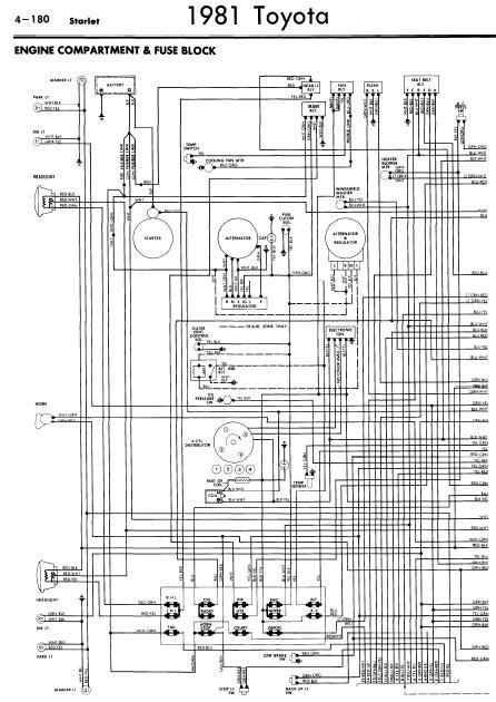 repair-manuals: Toyota Starlet 1981 Wiring Diagrams