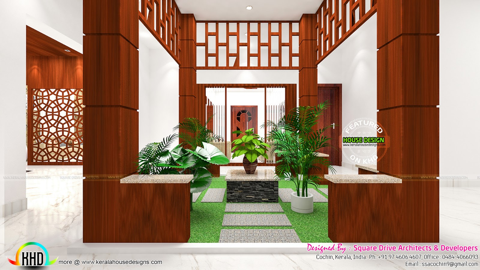 Courtyard Kitchen And Bedroom Interiors Kerala Home Design And Floor Plans