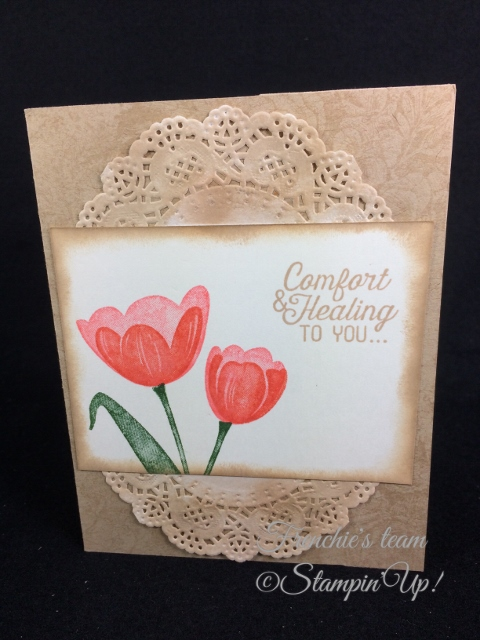Tranquil Tulips, Flourishing Phrases,  Frenchie' Team, Stampin'Up!