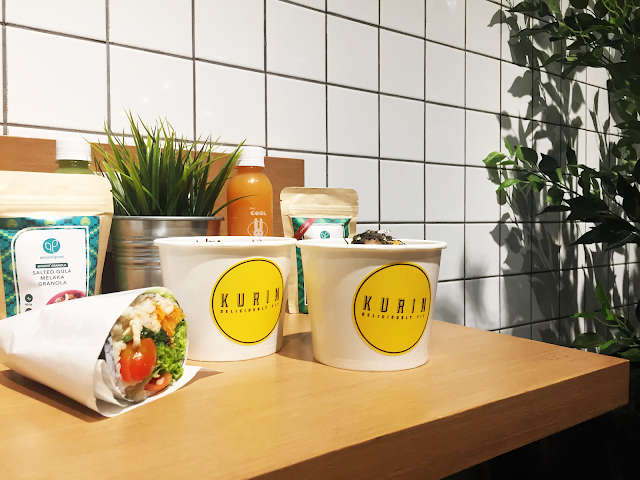 kurin's sushi bowls and healthy wraps