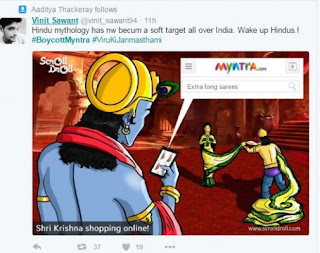 Indians on Twitter protested and out to boycott Myntra for a graphic ad it didn't even make