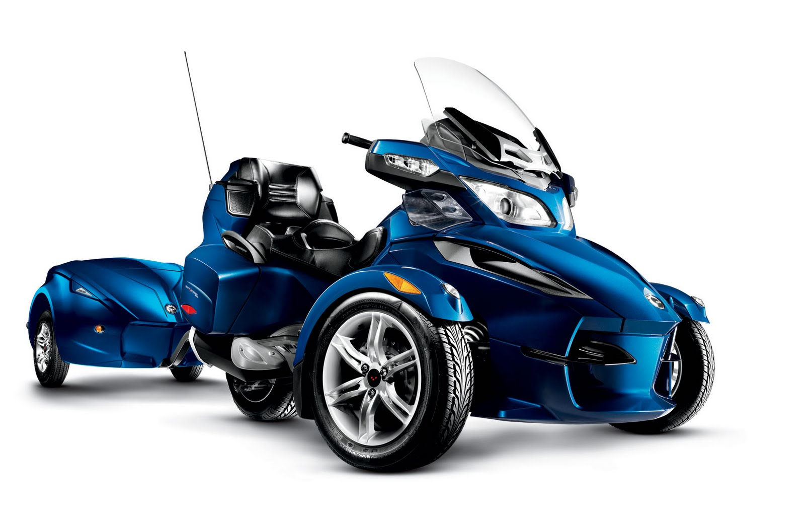 Motorcycle Pictures: Can-Am Spyder RT-622 Trailer 2010