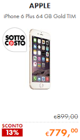 Sottocosto Cooponline - iPhone 6 Plus 64 GB Gold TIM