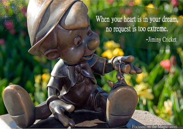 Pinocchio & Jiminy Cricket Statue, Magic Kingdom, Walt Disney World, FL