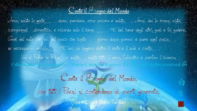 Canta il Sogno del Mondo di Padre David Maria Turoldo
