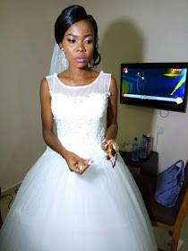 Viral Photos of 300 Level student writing her Exams with her bridesmaid on her wedding day in Benue