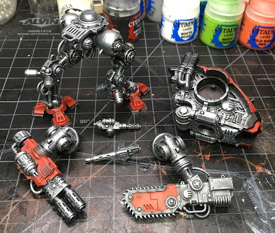WIP House Taranis Armiger Warglaive dry brusing of the skeleton complete
