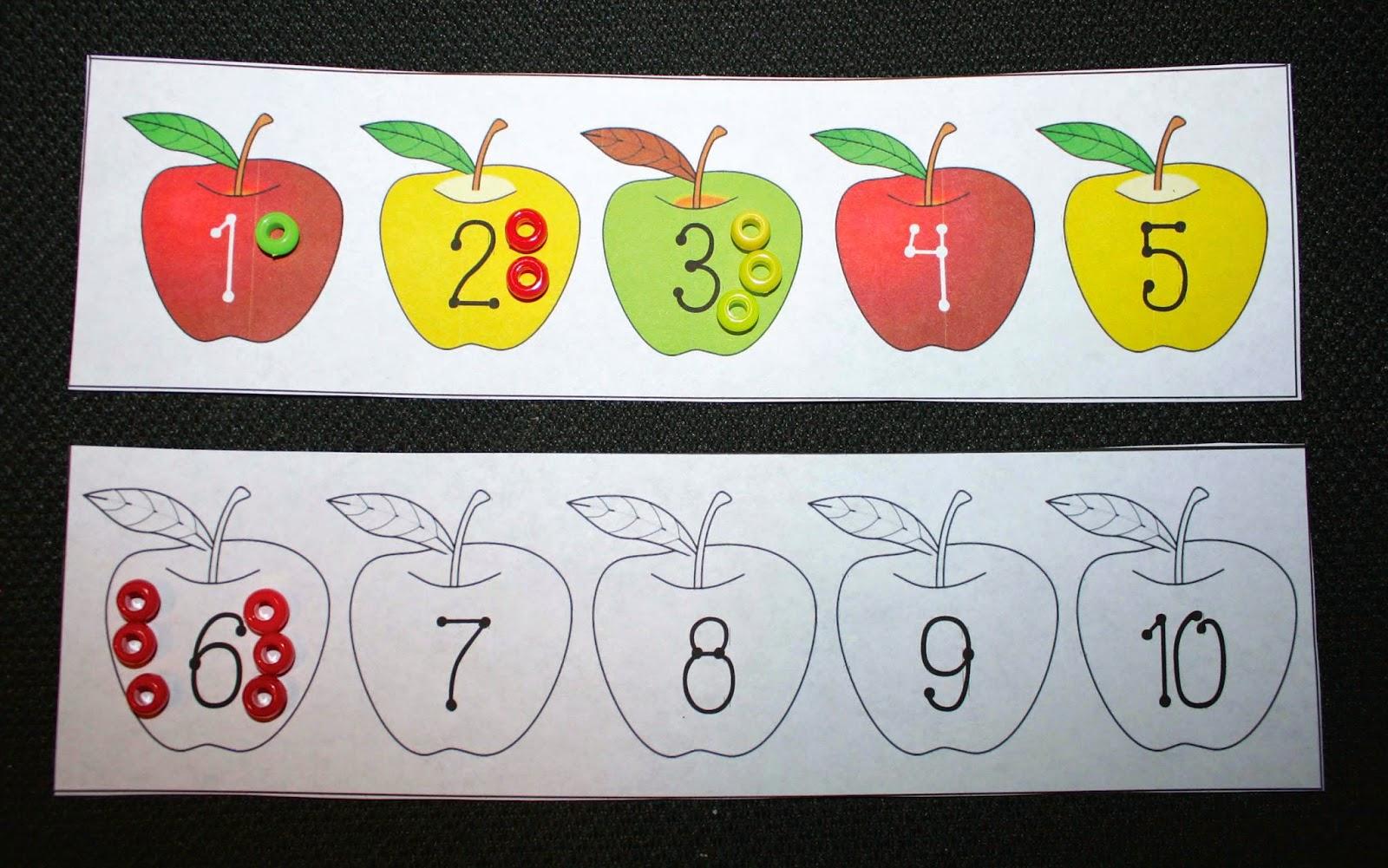 Classroom Freebies 1 To 1 Correspondence Apple Activity