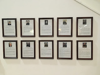 Wall of Admirals at Erie Maritime Museum