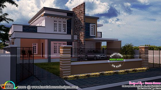 2426 sq-ft modern house 3d view