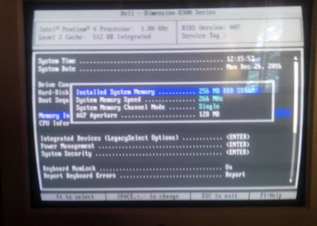 melihat memori yang terpasang pada komputer dari bios