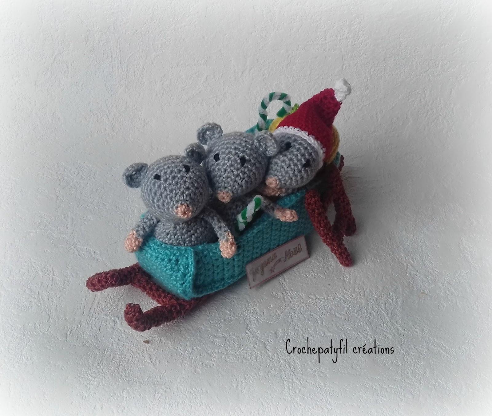 Crochepatyfil Créations Les Souris En Route Pour Noël