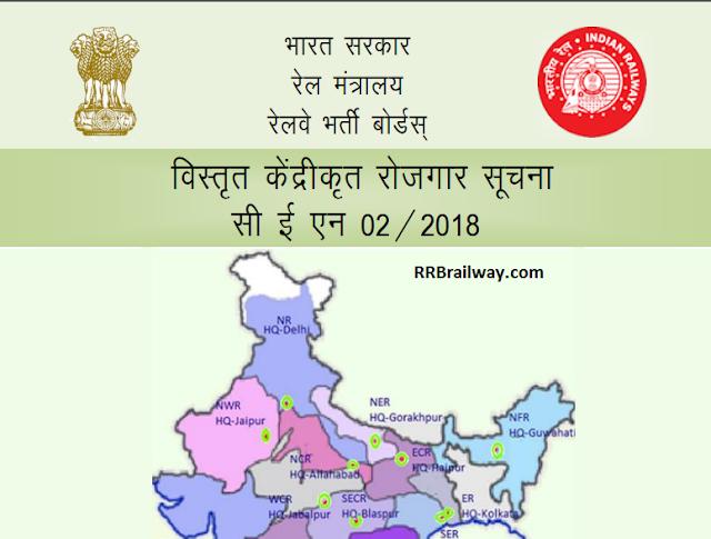 RRB Railway आरआरबी ग्रुप डी भर्ती CEN 02/2018 :पदों 62907 के लिए होनी है भर्ती