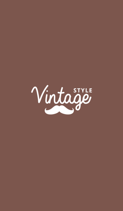 vintage style and hipster BROWN
