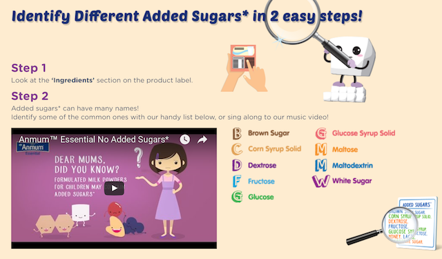 It's so easy to identify different added sugars from the ingredients label